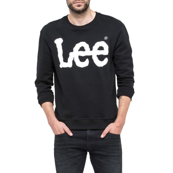 LEE Logo Crew Men Sweatshirt - Black (L82UUB01)
