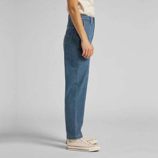 LEE Stella Panelled Taper Jeans - Grey Bala (L30QMMOJ)