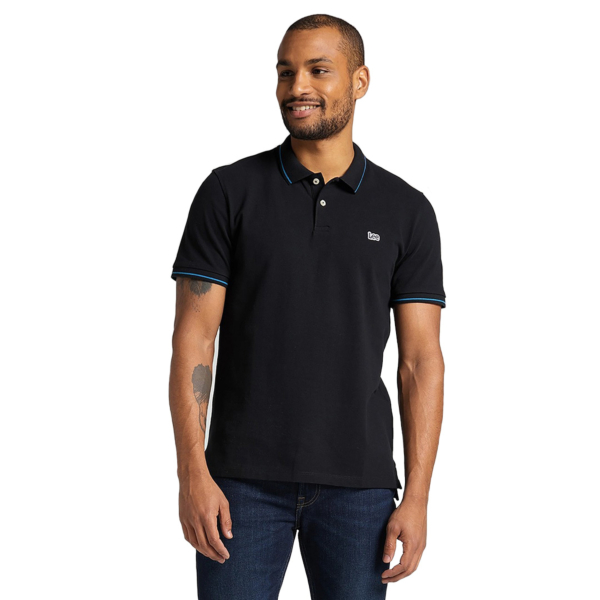 LEE Pique Polo for Men - Black (L61ARL01)