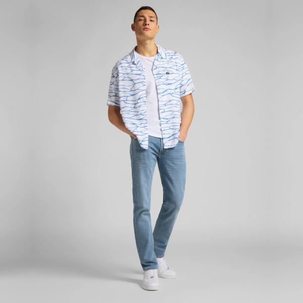 LEE Resort Short Sleeve Shirt - White Canvas (L67PQJRR)