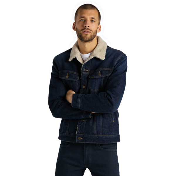 Lee Sherpa Denim Jacket - Deep Kansas (L87APLMH)