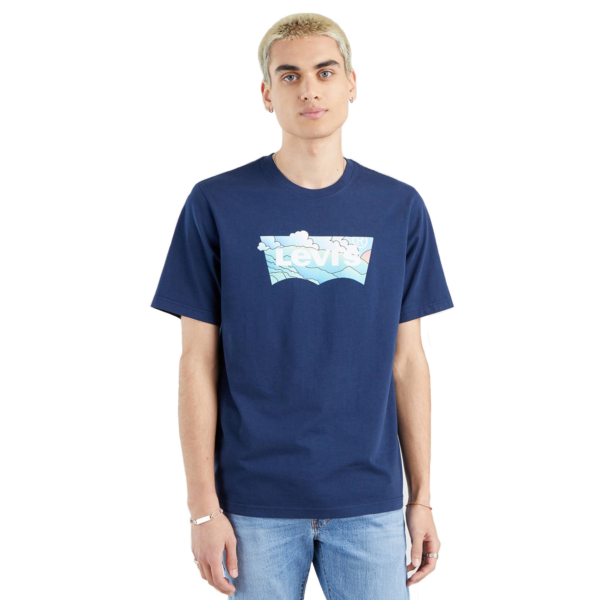 Levi's® Batwing Clouds Relaxed Tee - Dress Blue (16143-0292)