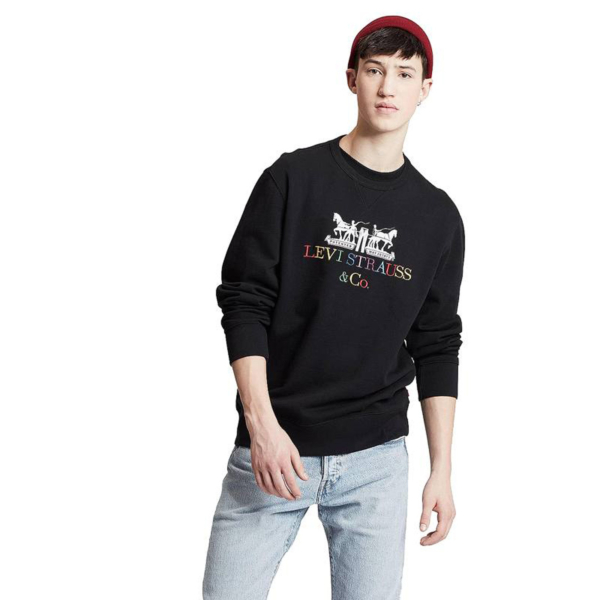 Levi's® Graphic Crew 90s Logo Text - Mineral Black (17895-0083)