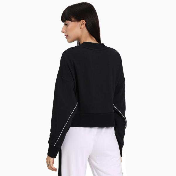 PUMA Classics Cropped Crew Women Sweater - Black (597637-01)
