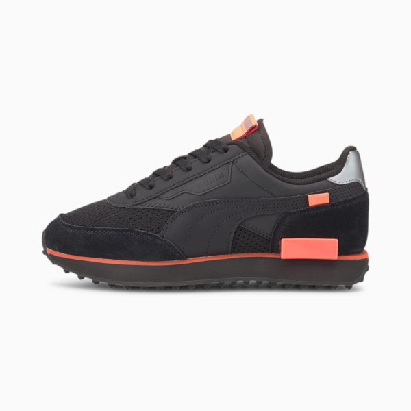 PUMA Future Rider Tulle Women Sneakers - Black/ Nrgy Peach (374134-02)