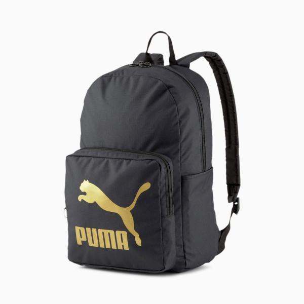 Puma Originals Backpack - Black/ Gold (077353-01)