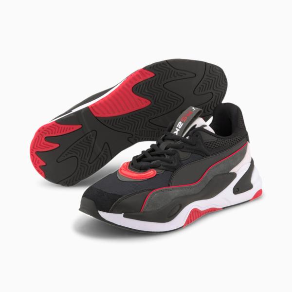 PUMA RS-2K Messaging Sneakers - Black/ Dark Shadow (372975-06)