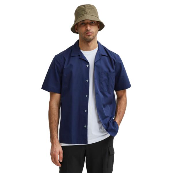 SELECTED Cuba Relaxed Men Shirt (16078368-Peacoat)