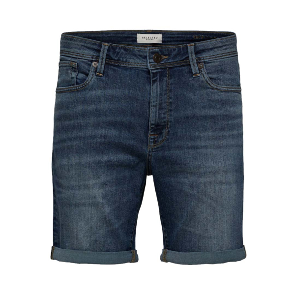 SELECTED Alex Stretch Denim Shorts (16071938-Medium Blue)