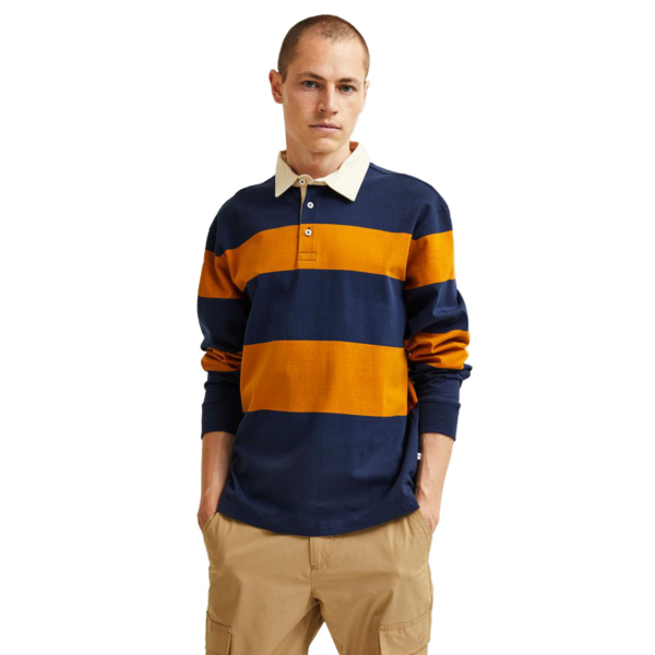 SELECTED Marcos Rugby Polo Sweater (16080154-Navy)