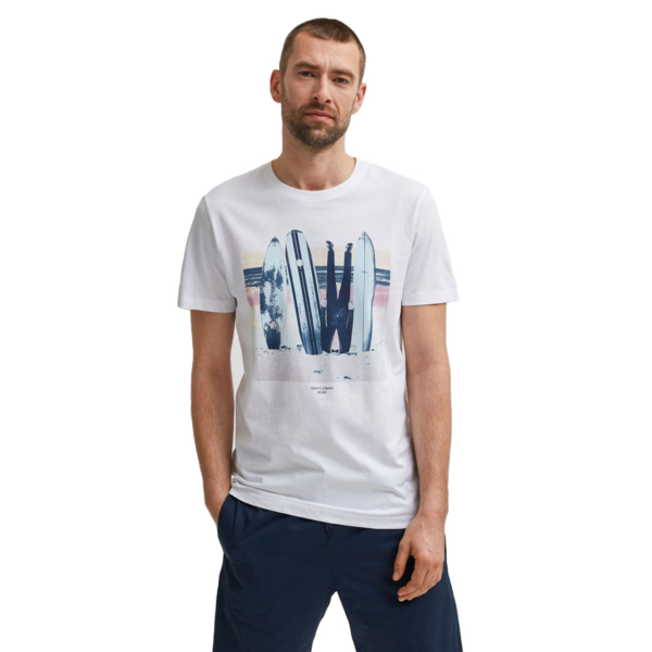 SELECTED Mike Surfboards Tee (16079035-White)