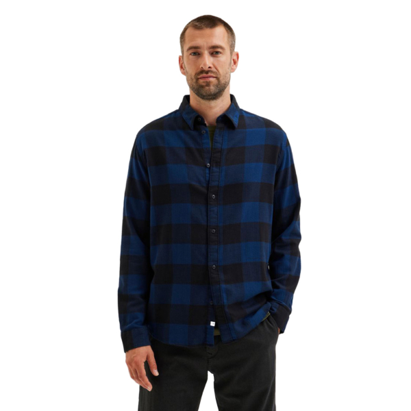 SELECTED Regbox Checked Shirt (16080836-DressBlue)