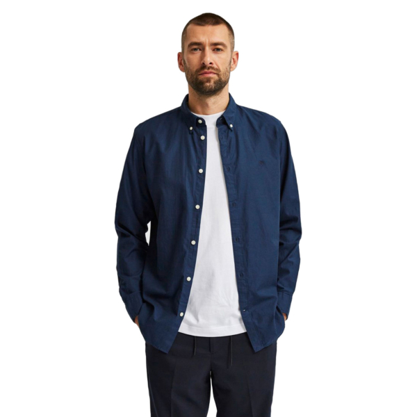 SELECTED South Slim Shirt (16079922-Dark-Sapphire)