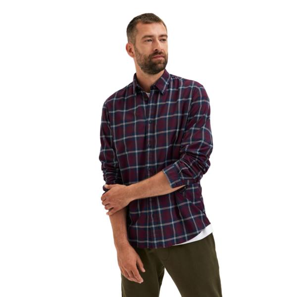 SELECTED Trent Checked Shirt (16081027-Winetasting)