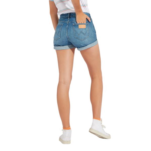 WRANGLER Boyfriend Denim Shorts - Motel Blue (W29KVC245)