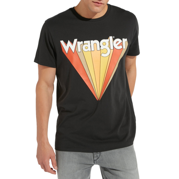 WRANGLER Graphic Men Tee - Faded Black (W7C12FKV6)
