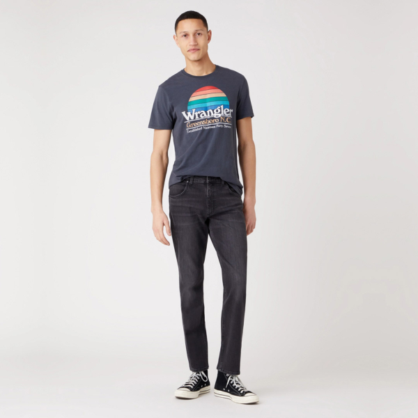 WRANGLER Greensboro Jeans Regular - Black Pepper (W15QHT32R)