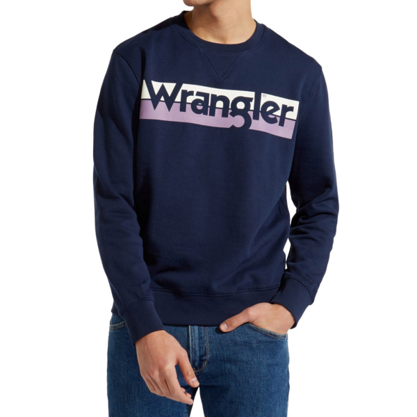 WRANGLER Logo Crew Sweat Men - Real Navy (W6532HYW4)