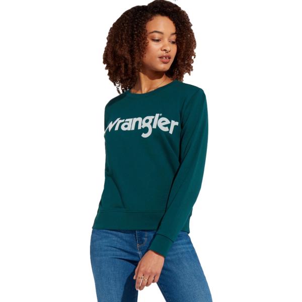 WRANGLER Logo Crew Sweat - Pine Green (W6N2HAG01)