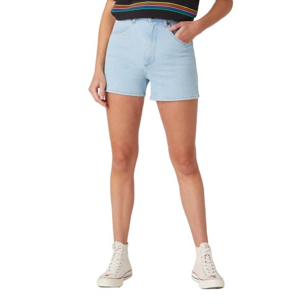 WRANGLER Mom Denim Shorts - Cloud Nine (W22DZH25E)