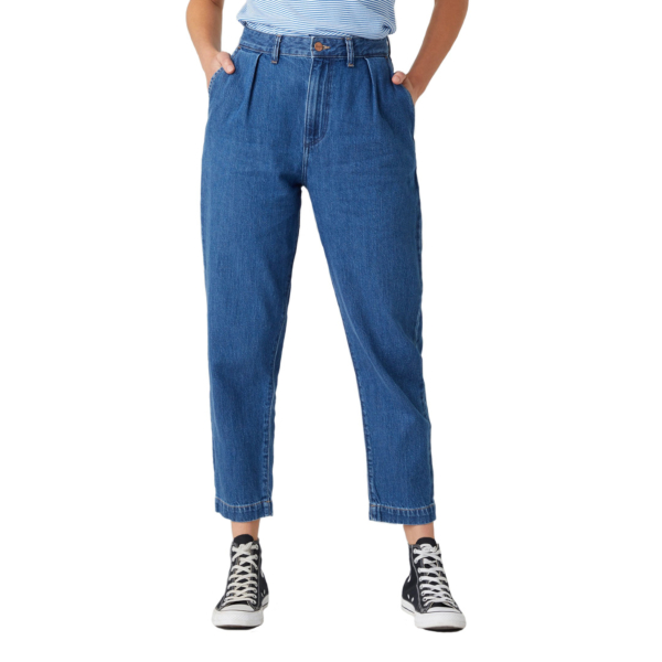 WRANGLER Mom Pleated Chino Jeans - Lake Side (W22HZB26K)