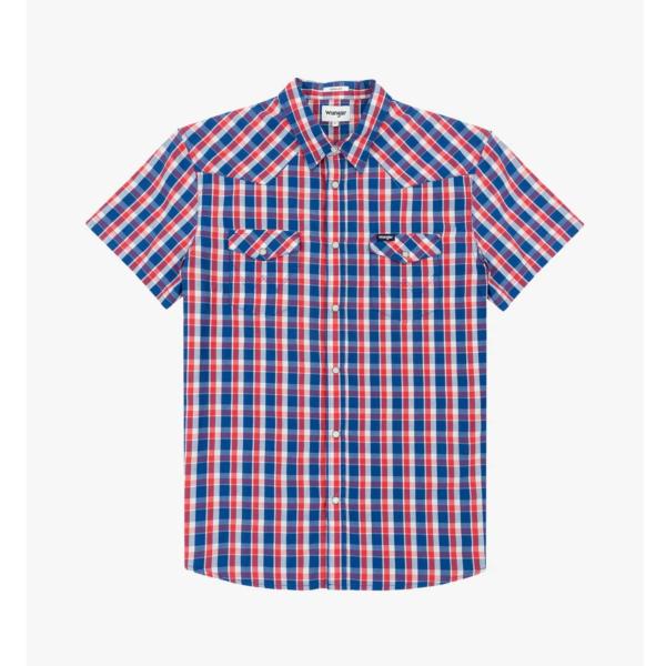 WRANGLER Western Short Sleeve Shirt - Limoges Blue (W5J04MX50)