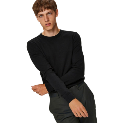 SELECTED Berg Knitted Jumper for Men in Black (16074682)