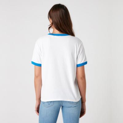 WRANGLER Relaxed Ringer Women T-Shirt in White (W7S0DR989)