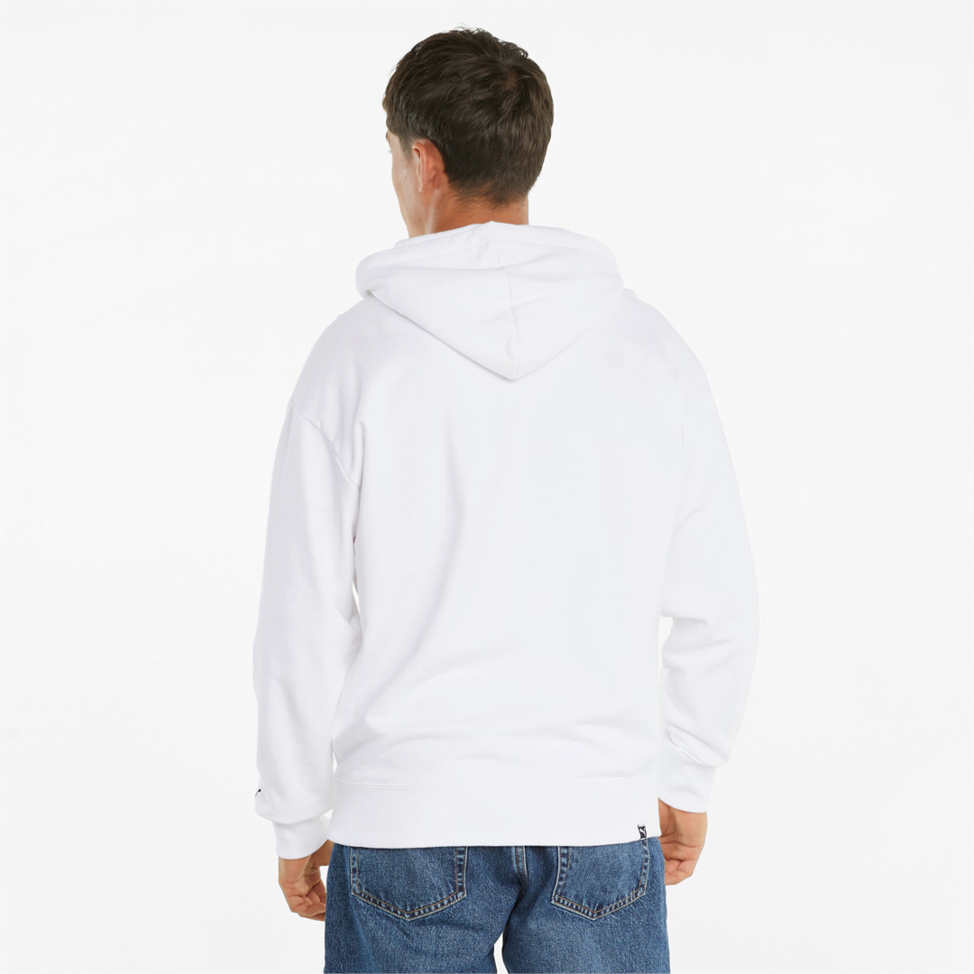 PUMA Club Graphic Men Hoodie - White (533110-02)