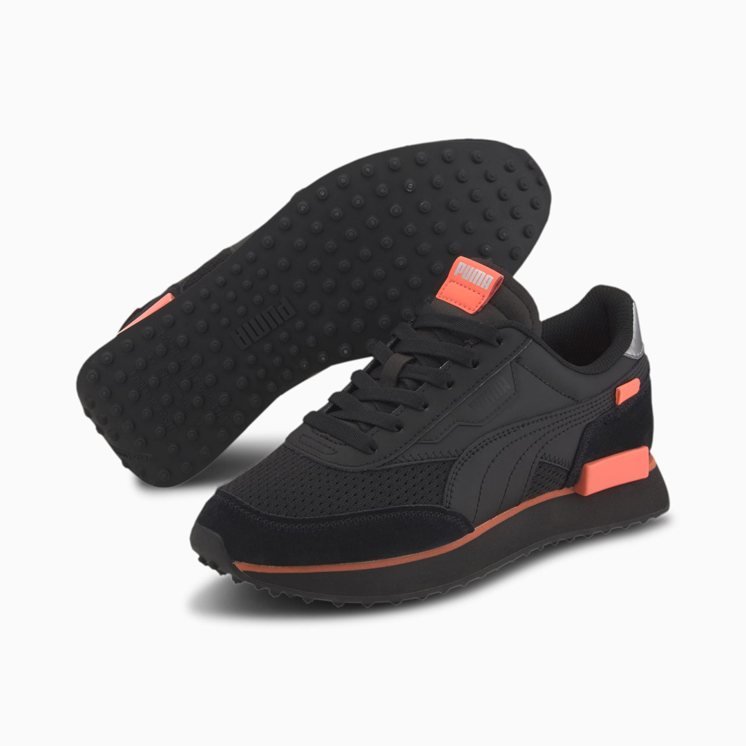 PUMA Future Rider Tulle Wn's Sneakers - Black/ Nrgy Peach (374134-02)