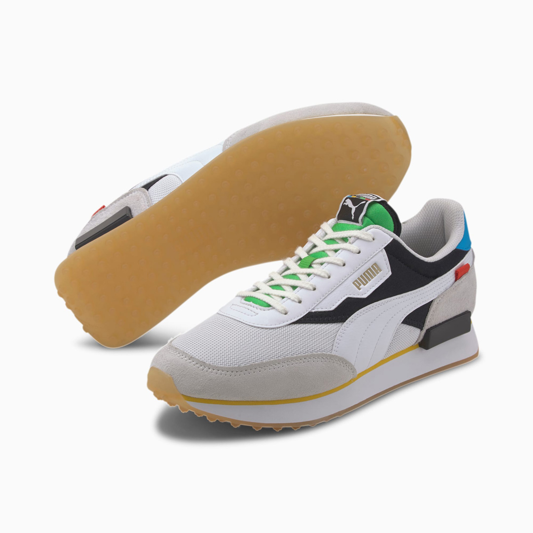 PUMA Future Rider Unity Collection Men Sneakers - White/ Black (373384-01)