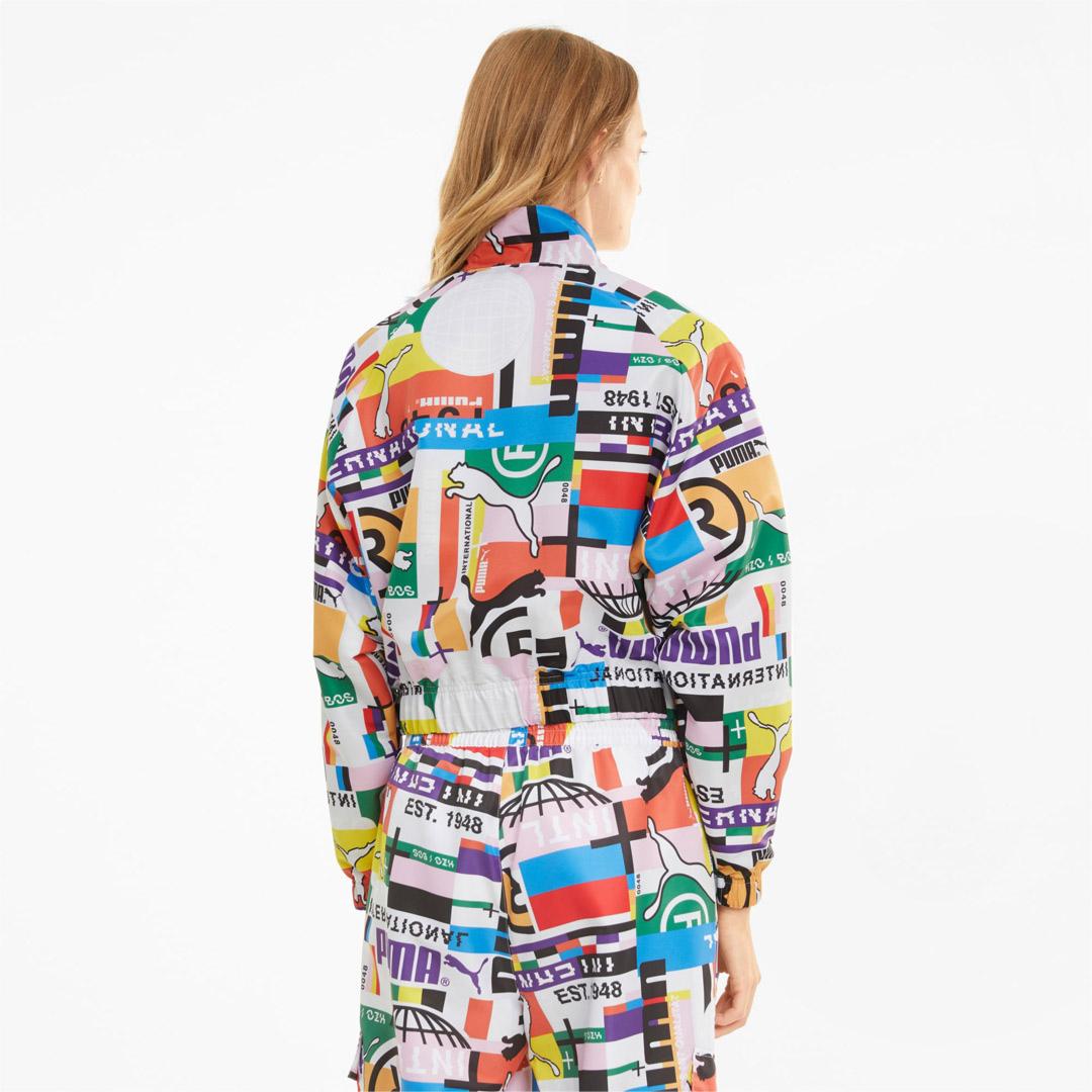 PUMA International Printed Women Track Jacket - White (530242-02)