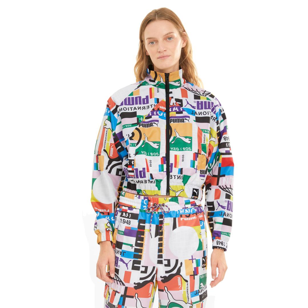 PUMA International Printed Woven Track Jacket - White (530242-02)
