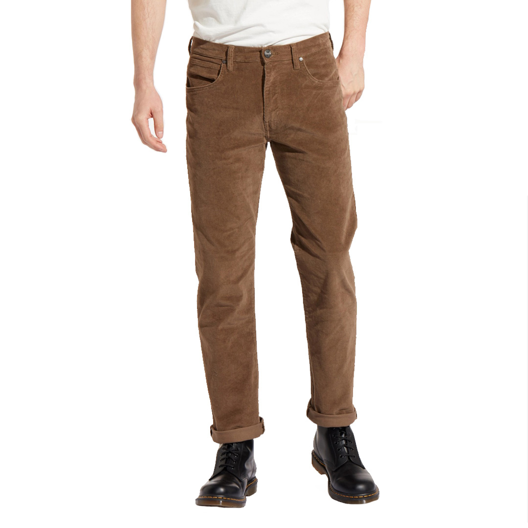 WRANGLER Arizona Cord Trousers Regular - Teak (W12OEC455)