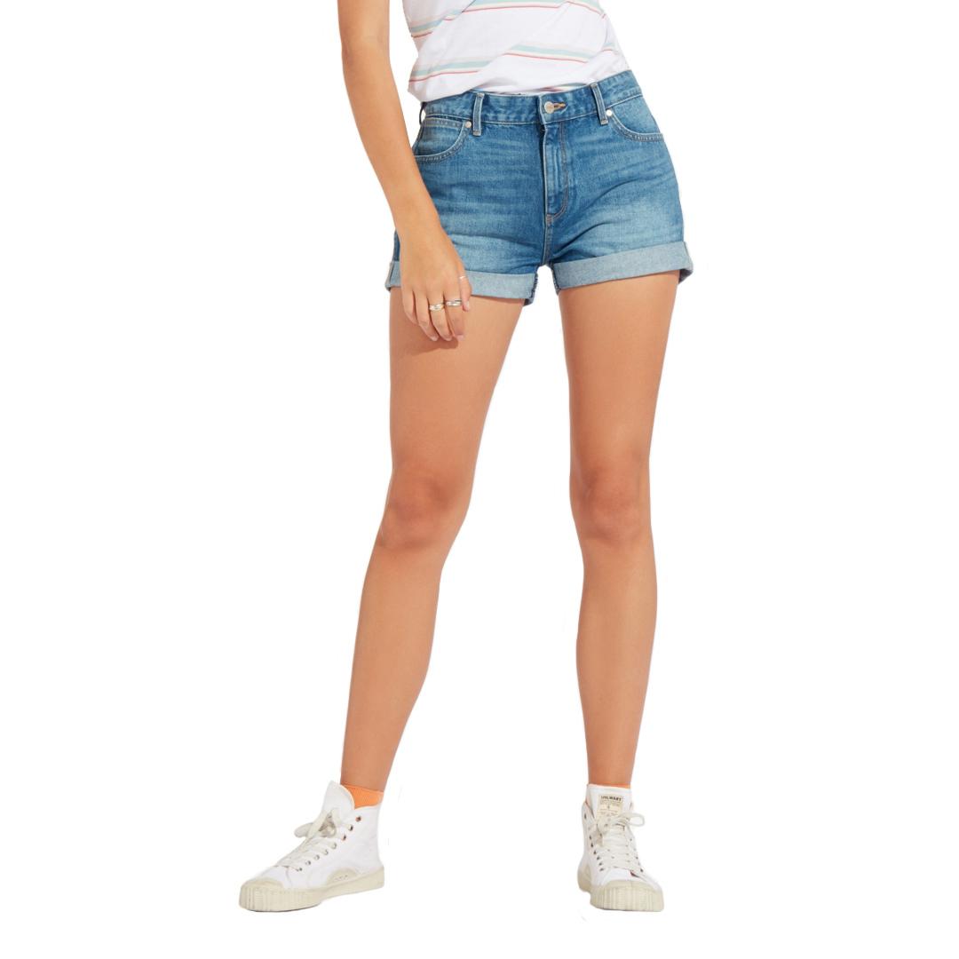 WRANGLER Boyfriend Denim Shorts - Motel Blue (W29K-VC-245)